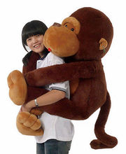 130CM Giant Huge Large Big Stuffed Soft Plush Brown Monkey Bear Doll Plush Toy Kawaii Kids Stuffed Toys For Children Dolls