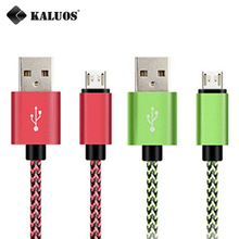 KALUOS 20cm 1m 2m 3m Faster Longer Micro USB Data Sync Charge Cable For Xiaomi Samsung S7 LG G3 HTC Android Phone Charger Cable