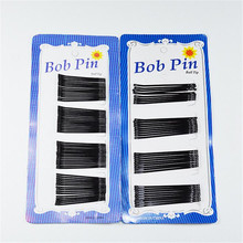 60pcs 4cm Black Pins Hair Clip Set Pro Hair Clips Wavy Grips Hairstyle Hairpin Black Pins Handle Handle Salon Stealth