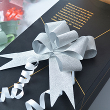 5pcs/lot 50 MM Plastic Pull Bow Ribbons Giftwrap Wedding Party favour gift box decoration Striped Scrapbook Valentine Day