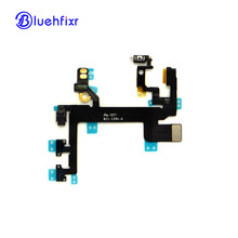 10 PCS For iPhone 5S Power Button+Volume Button Connector Flex Cable Light Sensor Power Switch ON/OFF Replacement Parts