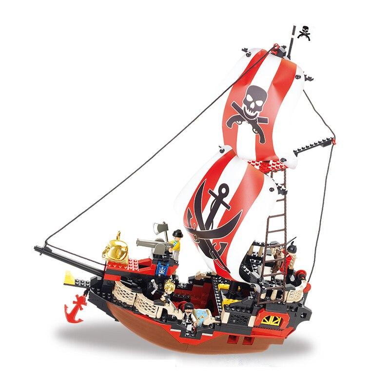 Sluban Models Building Toy B0127 379pcs Pirate Ship Blocks Model Building Kits For Boys Girls children Classic Toys Hobbies<br>