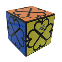 Lan Lan Eight-axle Heart Magic Curvy Magic Cube Irregular Cube Puzzle Toys for Challenging - Black-based(China)