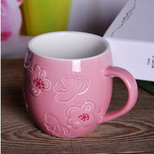 Cute Coffee Mugs for Couples 350 ml Drinkware Mug Cup for Tea Travel Elegant Coffee Mugs Beautiful Pink White Ceramic Milk Cup