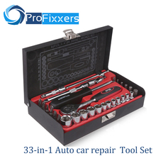 flying deer 33-in-1 car repair sleeve Auto Repair Auto Repair Tool Set Auto insurance ratchet socket wrench(China)
