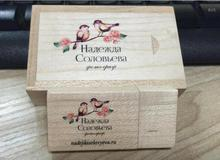 Brand new Silk printing diy logo custom wooden usb 2.0 version memory flash stick pen drive (Color logo needs 30 pcs mininum)(China)