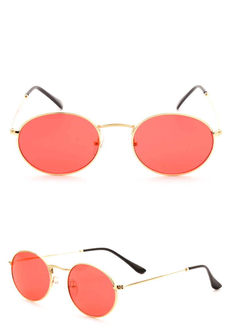 small oval sunglasses women red 0305 details (4)