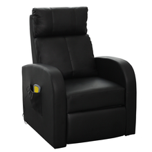 iKayaa  Black Electric Massage With Remote Control Living Room Sofa ES Stock