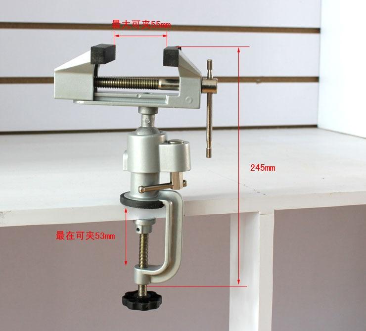 Aluminum Small Mini Table Clamp Hobby Jewlery Work Swivel 360 Vice<br>