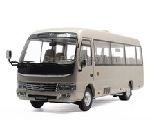 1:24 Toyota COASTER Middle Bus Alloy Car Model Hot Selling Classic Auto Miniacture Gifts