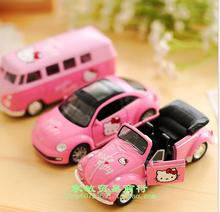 Hello Kitty authentic Korean cartoon car decoration model Beetle Cabriolet toy bus(China)