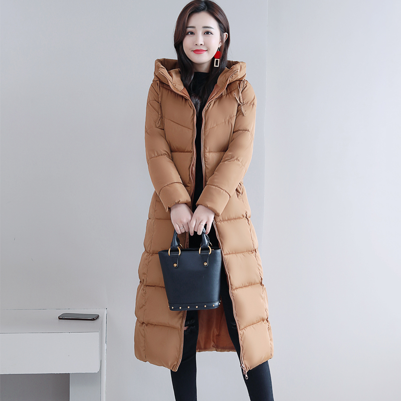 Plus Size 4XL 5XL 6XL womens Winter Jackets Hooded Stand Collar Cotton Padded Female Coat Winter Women Long Parka Warm Thicken 26