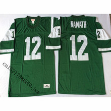 Mens 1968 Retro Joe Namath Stitched Name&Number Throwback Football Jersey Size M-3XL(China)