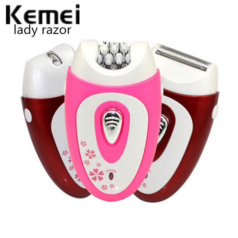 Kemei KM-207 New 3 in 1 Women Shaver Wool Device Knife Electric Shaver Wool Epilator Shaving Ladys Shaver Female Care<br>
