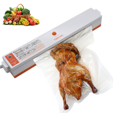 2016 100W Portable Household Food Vacuum Sealer Packaging Machine Electric Film Food Sealer Vacuum Packer With 15Pcs Bags Free(China)