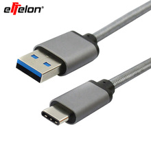 Effelon Pass CheckR 1M Braided USB3.1 Type C To USB 3.0 A Male Cable For Macbook  For LG Nexus 5X For Xiaomi 4c Letv Le One