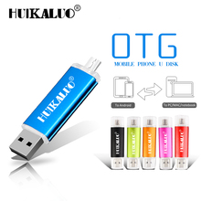 Original brand HUIKALUO USB Flash Drive OTG USB 2.0 Pen Drive 4G 8G 16G 32G Pendrive Dual U Stick for Smartphone/Tablet(China)