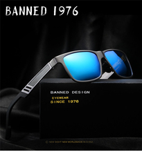 2017 Polarized aluminium magnesium Sunglasses UV400 men women Driving fashion vintage Sun Glasses oculos de sol with gift box(China)