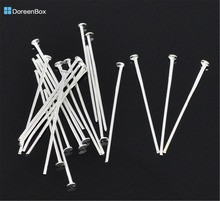 Doreen Box Lovely 500PCs Silver color Head Pins 0.7x28mm(21 gauge) (B01532)
