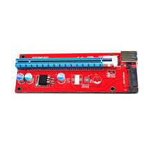 PCIe PCI-E PCI Express Riser Card 1x to 16x USB 3.0 Data Cable SATA to 4pin IDE Molex Power Supply 30cm/60cm for for BTC Mining