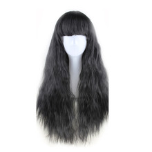WOODFESTIVAL corn wig long hair wigs for women yellow taro brown black burgundy wig wavy heat resistant synthetic wigs with bang(China)
