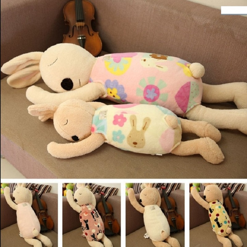Cute Funny Baby Plush Dolls Pink Stuffed Animals Rabbits Gift For Kid Toys Smooth Obedient Sleeping Rabbit<br><br>Aliexpress