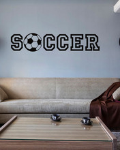 Soccer Wall Sticker Football player Decal Sports Decoration Mural for Boys Kids Room Decor Art poster wallpaper living room SOS(China)