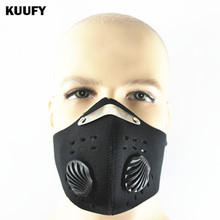 KUUFY Pm2.5 Outdoor Carborn Half Face Mask Sports Dust Protective Cycling Masks Smog Filters Mask Mascaras Ciclismo