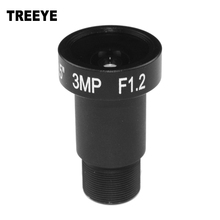 "Starlight Lens 3MP HD 4mm CCTV Lens For HD IP Cameras M12 F1.2 Aperture 1/2.5"" for SONY IMX290/IMX291 Ultra Low Light Cameras"