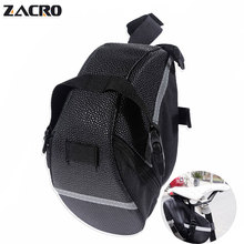 Buy Zacro Waterproof Mini Mountain Bike Saddle Bag Pouchs Road Bicycle Back Seat Tail Package Outdoor Cycling Saddle Seatpost packe for $6.99 in AliExpress store
