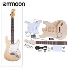 High Quality Electric Guitar DIY Kit Set Guitarra Durable Basswood Body Rosewood Fingerboard Maple Neck with Guitar Accessories
