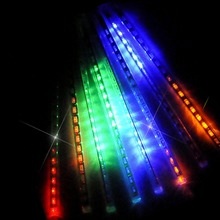 LED Meteor Shower Rain Lights,Drop/Icicle Snow Falling Raindrop 30cm 8 Tubes Waterproof lights for Xmas Home Decor ,US plug