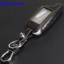 jingyuqin 3 Buttons Leather Car-Styling Key Cover Case For Starline B9 B6 A91 A61 Twage Two Way Car Alarm System keychain(China)