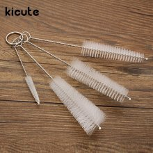 Kicute 4pcs Bottle Spout Test Tube Cleaner Cup Cleaning Washing Handle Brush Scrubbing Tool Lab Equipment School Stationery