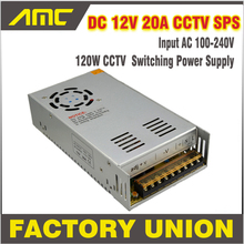 Universal 240w Adapter Switching CCTV Power Supply AC/DC Input AC 100-240V To DC 12V 20A Switch for DVR CCTV camera Power Supply