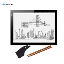 "17.7"" Huion L4S Ultra Thin 5mm LED Light Pad Professional Animation Trackpad USB Tracing Board with 2B Pencil Glove Paper Gifts"