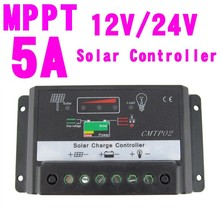 5A 12V/24V  MPPT Solar Charge Controller Fit Solar Panel Battery Regulator Auto Switch A391