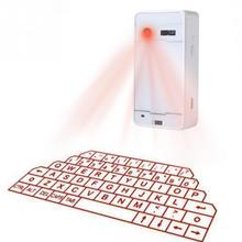 Ultra-Portable Full Size English QWERTY Laser Keyboard NewestWireless Bluetooth Virtual Projector For Smartphone Tablet Computer