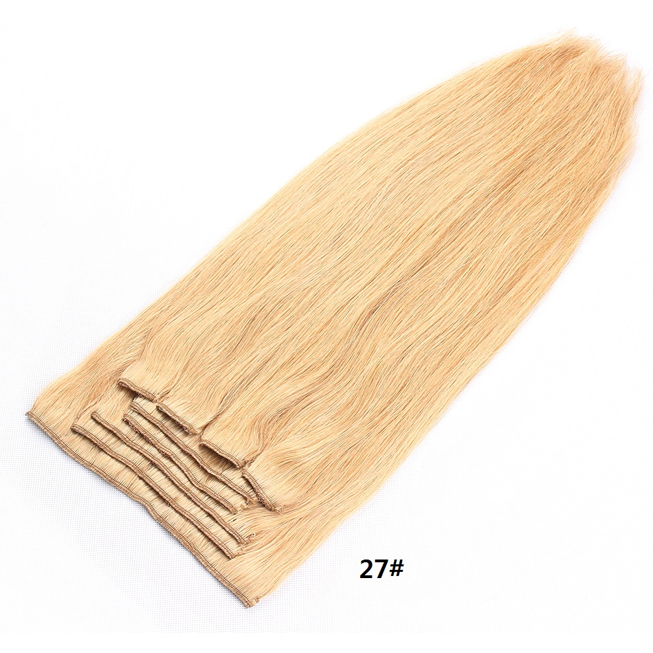Clip in hair extension Human hair bundles brazilian hair 27