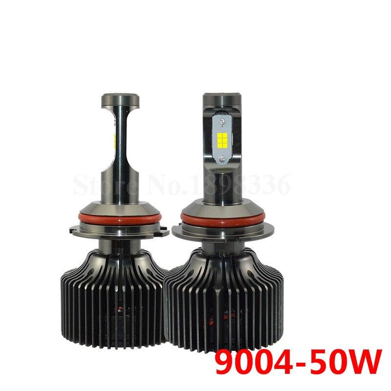2pcs 9004 Led Headlight High/Low Beam Bulbs 6000K Super Bright 50W 5000Lm/per Waterproof Headlamp Bulbs Car-styling Source<br>
