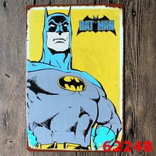 """Bat Man"" Vintage Metal Tin Signs Retro Tin Plate Sign Wall Decoration for Cafe Bar Shop and Restaurant Neon Signs for Bar Open"