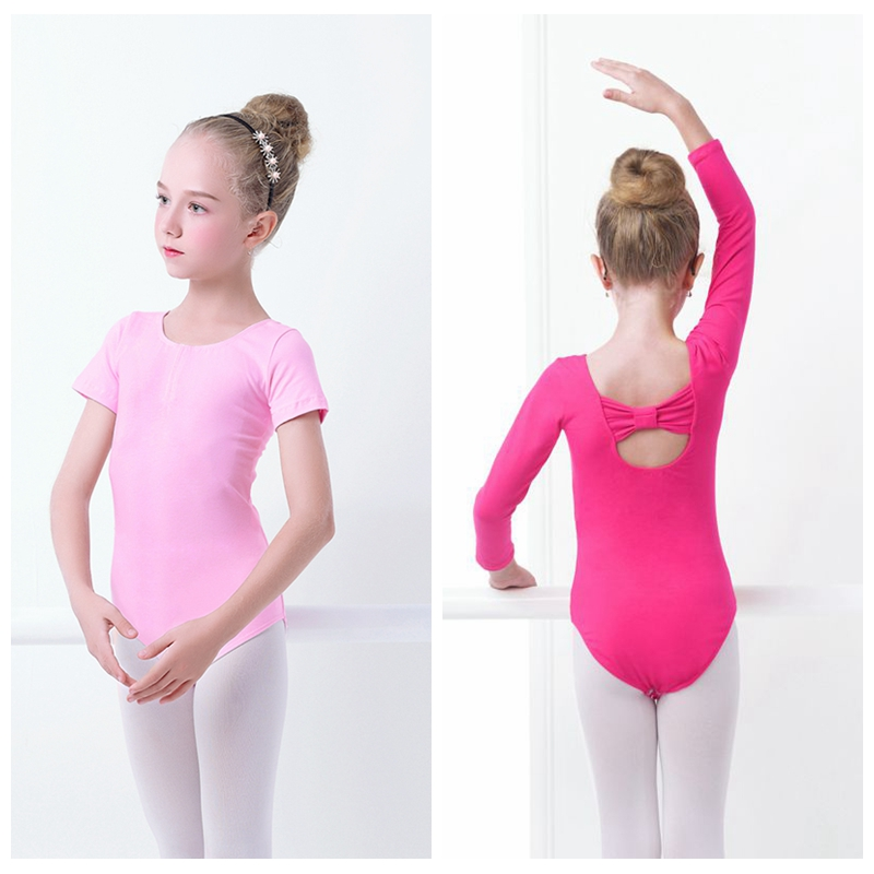 Pink Short Sleeved Cotton Ballet Dance Leotard Toddler Baby Ballet AGE 2-12