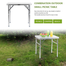 2017 NEW 60*45CM Portable Small Size Folding Aluminum Height Adjustable Table Indoor Outdoor Picnic Party Dining Camping Table