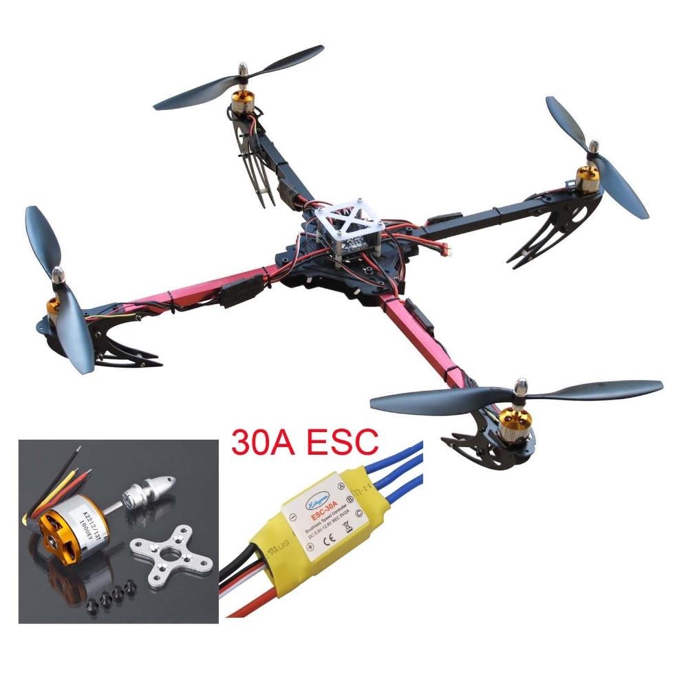 DIY X525 Quadcopter Folding Kit - Mini KK2.15 FC Flight Controller 30A ESC XXD 1000KV Motor 1045 Propeller  ESC Connect Board<br><br>Aliexpress