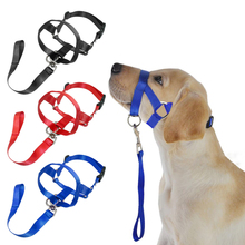Pet Dog Nylon Halter Training Nose Reigns Head Collar for Dogs Helps Stop Pulling Kindly Black Red Blue M L XL XXL