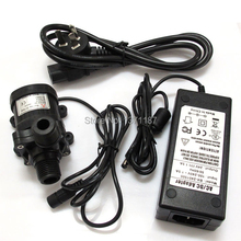 DC12V Water Pump+ Power Adapter for Water Circulation Aquarium Car Washing Fountain Irrigation, Submersible, 780LPH 4M