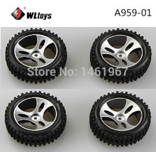 4pcs/lot Wltoys A959 1/18 RC Car Spare Parts Tires Wheels A959-01