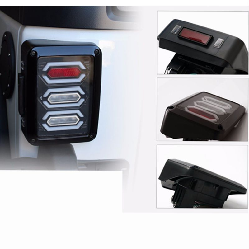 LED Rear Tail Light kit for Jeep wrangler JK 07-16 Tail Lights Brake Reverse Light Rear Back Up Turn Singal Lamp Daytime Running<br>