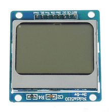 High Quality 84*48 84x84 for LCD Module blue backlight adapter PCB for Nokia 5110 for Arduino Wholesale