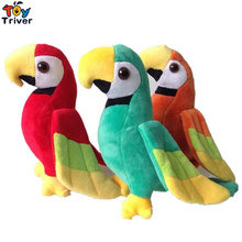 20/25cm Cute Plush Green Orange Red Parrot Toy Stuffed Doll Bird aby Kids Children Birthday Gift Home Shop Decor Triver